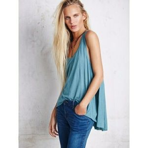 FREE PEOPLE we the free cruz cape teal tank small